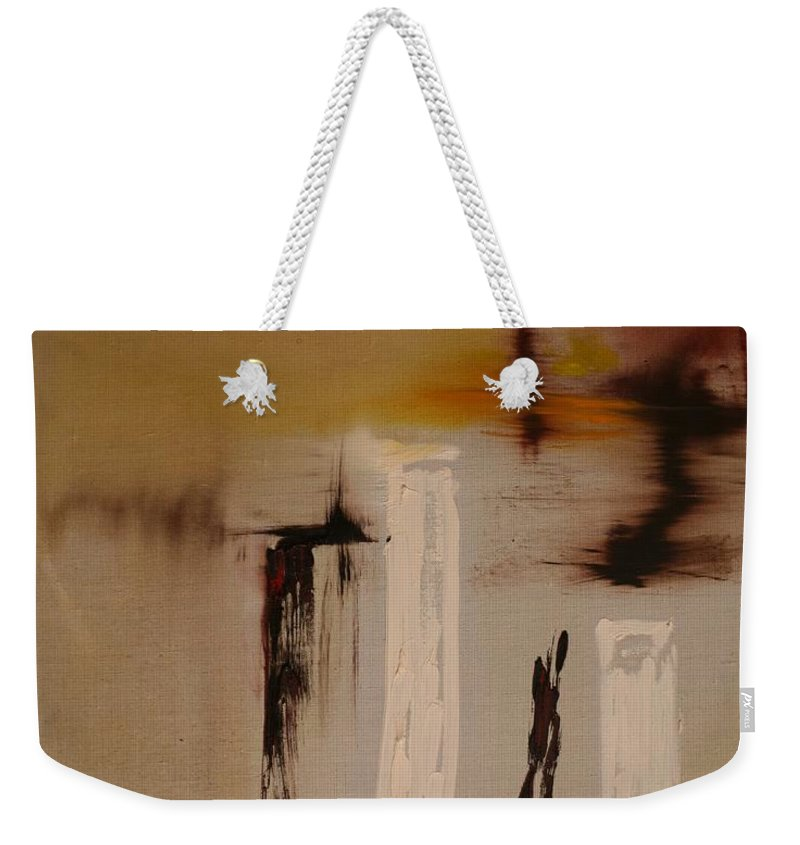 Abstract Weekender Tote Bag featuring the painting Easy by Jack Diamond