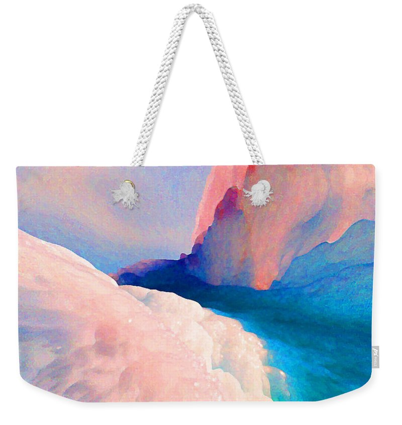 Abstract Weekender Tote Bag featuring the photograph Ebb And Flow by Steve Karol