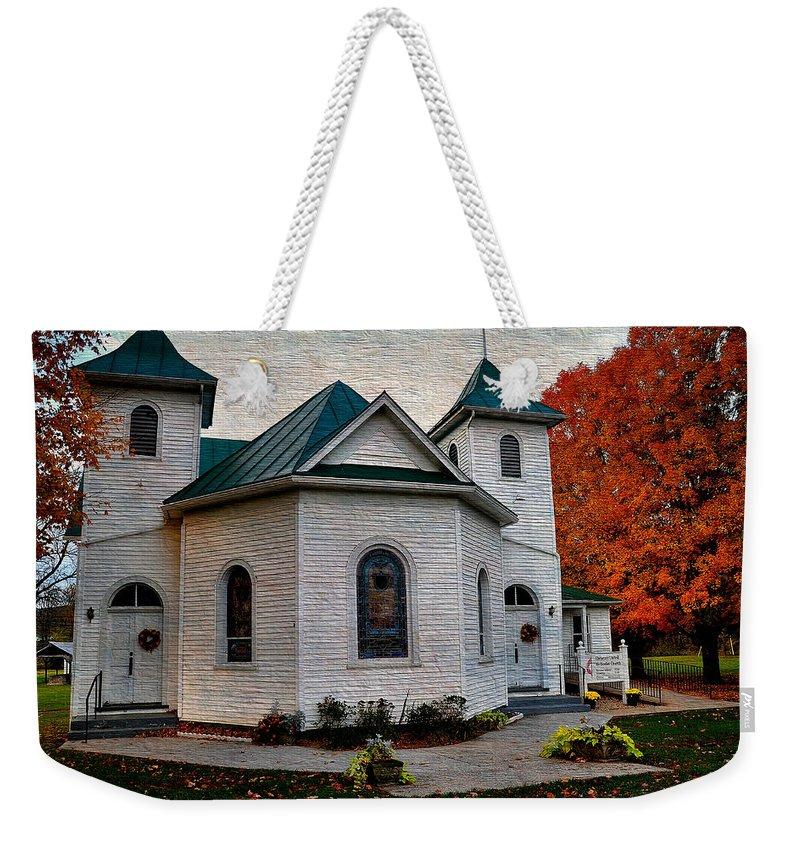 Ebenezer United Methodist Church Weekender Tote Bag featuring the photograph Ebenezer United Methodist Church by Todd Hostetter