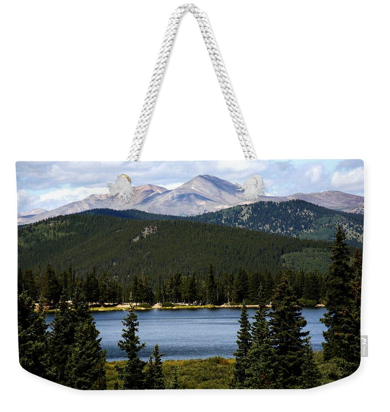 Colorado Weekender Tote Bag featuring the photograph Echo Lake Colorado by Marilyn Hunt