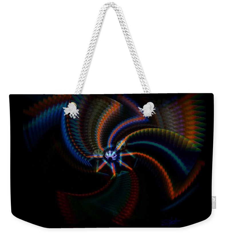 Chaos Weekender Tote Bag featuring the painting Echoes by Charles Stuart