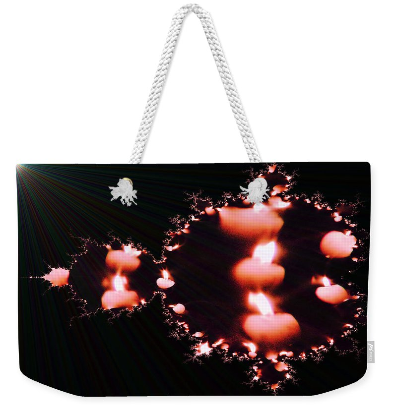 Candles Weekender Tote Bag featuring the photograph Echoing Candles by Jeff Swan