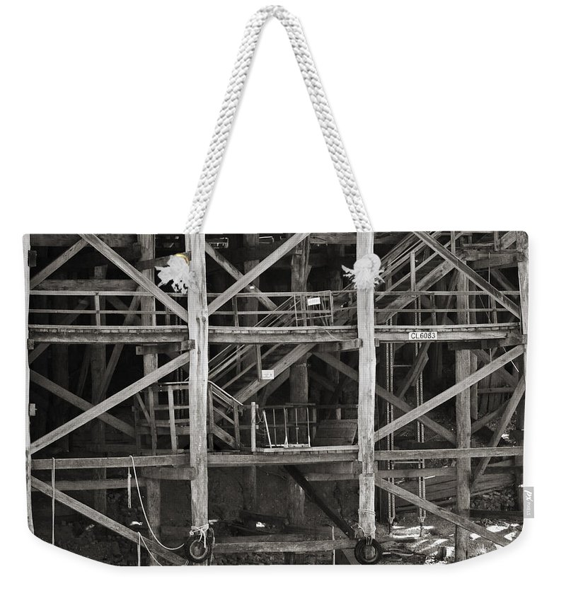 Wharf Weekender Tote Bag featuring the photograph Echuca Wharf by Kelly Jade King