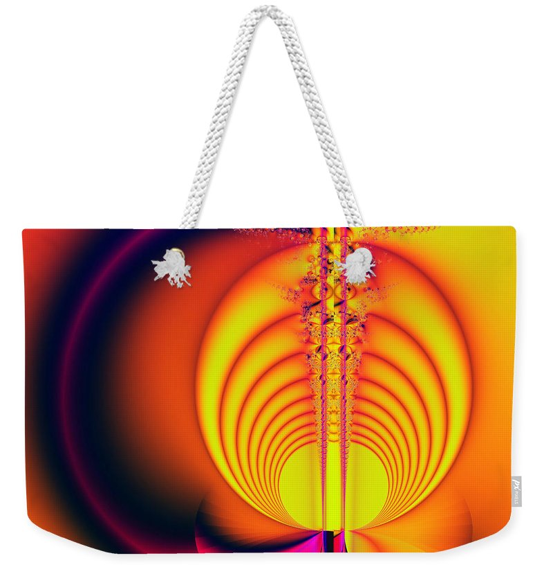 Digital Art Weekender Tote Bag featuring the digital art Eclipse by Amanda Moore