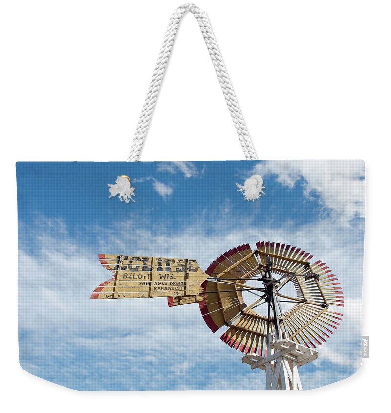 Windmill Weekender Tote Bag featuring the photograph Eclipse by David Arment