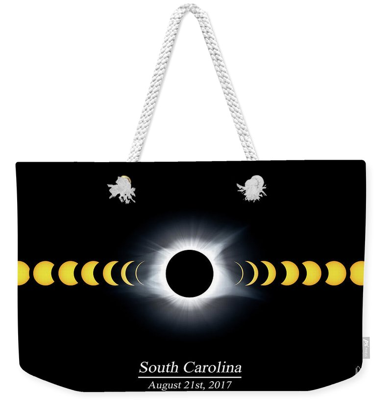 2017 Weekender Tote Bag featuring the photograph Eclipse Timeline by Ryan Feeley