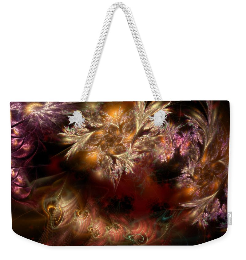 Abstract Weekender Tote Bag featuring the digital art Ecological Hope by Casey Kotas