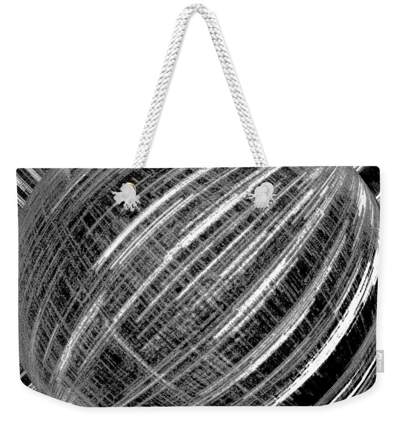 Black & White Weekender Tote Bag featuring the digital art Economic Bubble by Will Borden