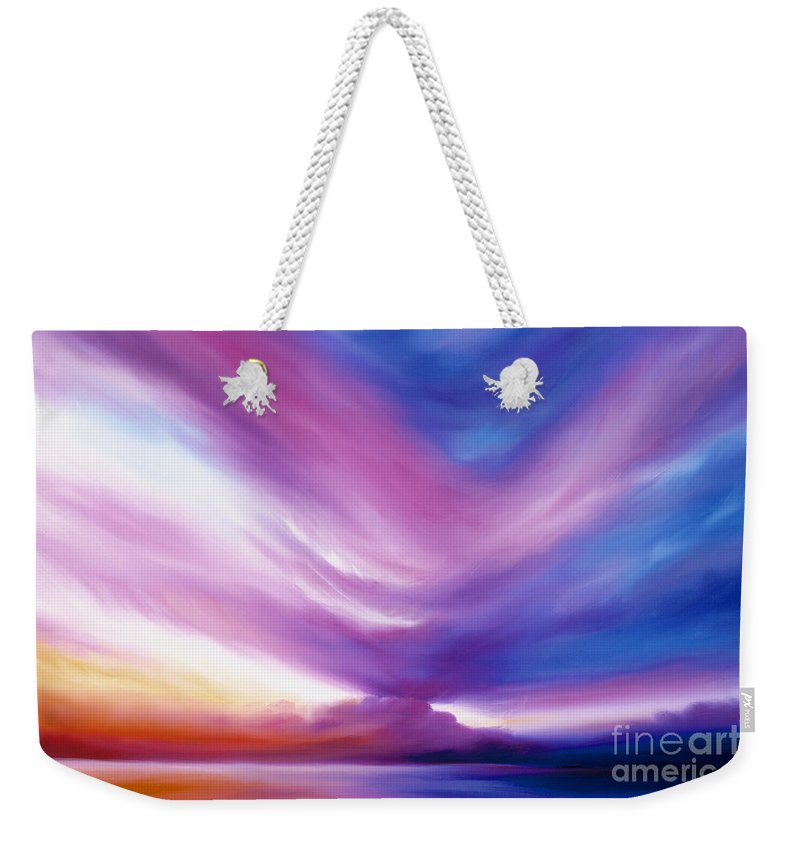 Clouds Weekender Tote Bag featuring the painting Ecstacy by James Christopher Hill