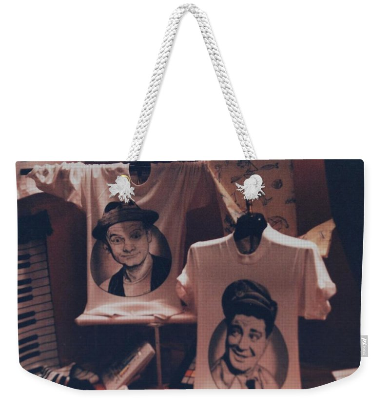 The Honeymooners Weekender Tote Bag featuring the photograph Ed And Ralphie Boy by Rob Hans