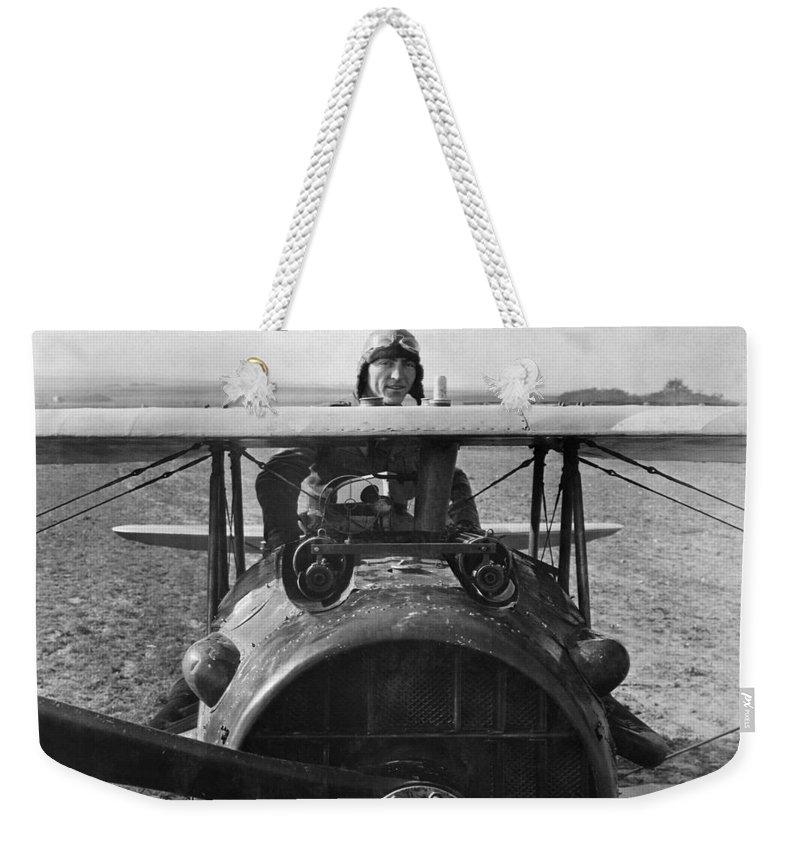 Rickenbacker Weekender Tote Bag featuring the photograph Eddie Rickenbacker - World War One - 1918 by War Is Hell Store