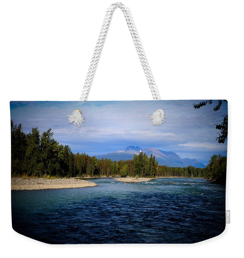River Weekender Tote Bag featuring the photograph Eddy Park - Telkwa by Danielle Silveira