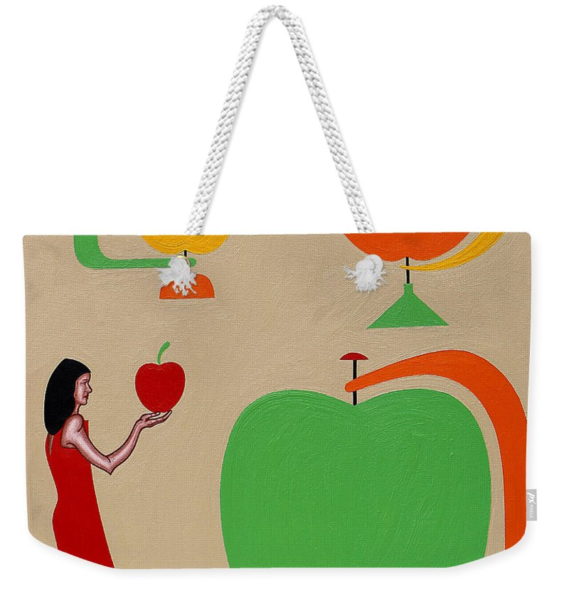 Eden Weekender Tote Bag featuring the painting Eden by Patrick J Murphy