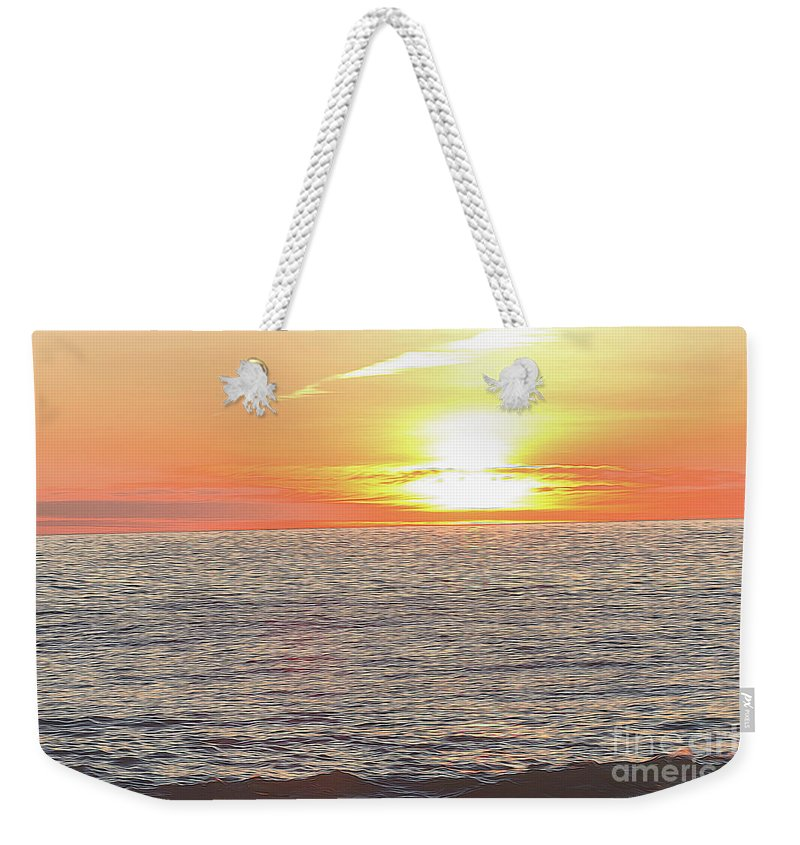 Beach Weekender Tote Bag featuring the photograph Edge Of The World by Carolyn Truchon