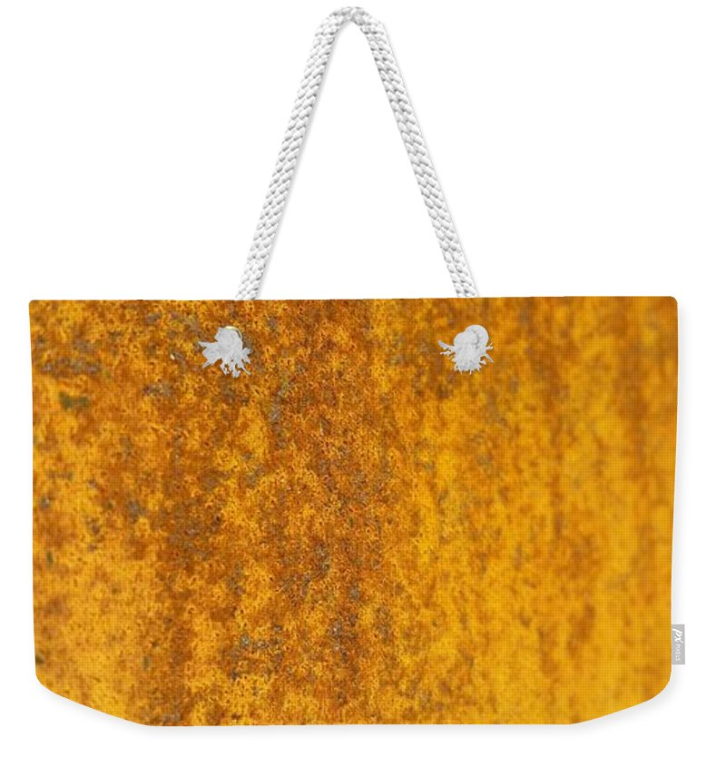 Weekender Tote Bag featuring the photograph Edge To Edge Rust by Zac AlleyWalker Lowing