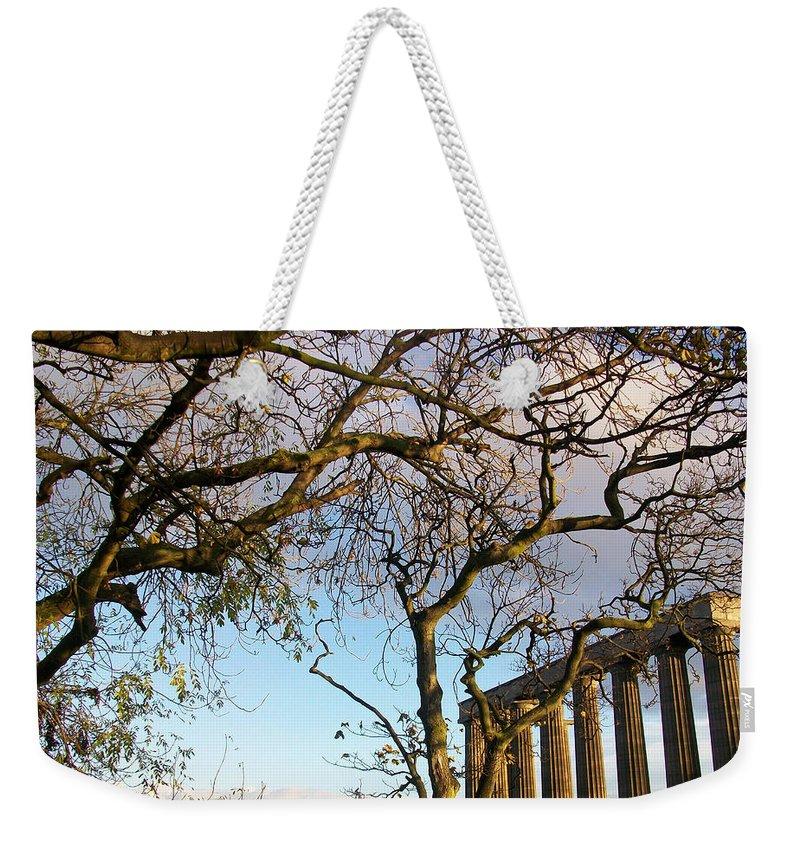 Scotland Weekender Tote Bag featuring the photograph Edinburgh - Caption Hill Trees by Munir Alawi