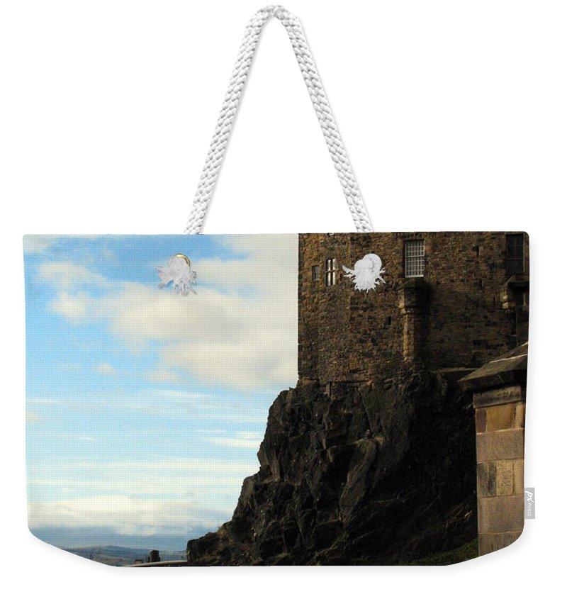 Castle Weekender Tote Bag featuring the photograph Edinburgh Castle by Amanda Barcon