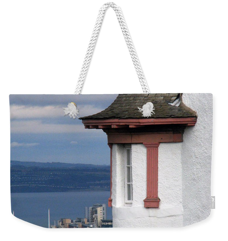 Scotland Weekender Tote Bag featuring the digital art Edinburgh Scotland by Amanda Barcon