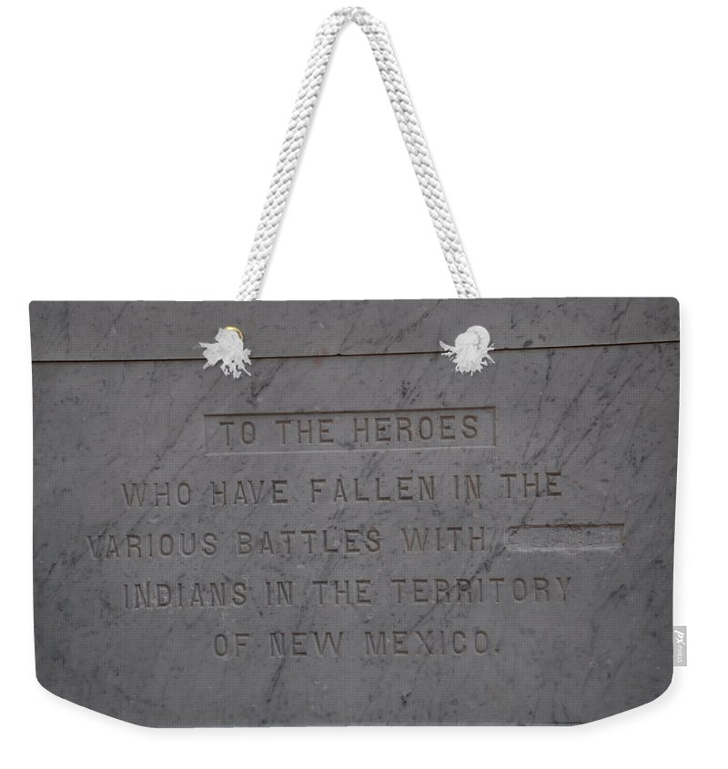 Marble Weekender Tote Bag featuring the photograph Edited Deleted History by Rob Hans