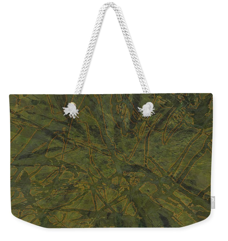 Abstract Weekender Tote Bag featuring the mixed media Edition 1 Kelp by Kristin Doner
