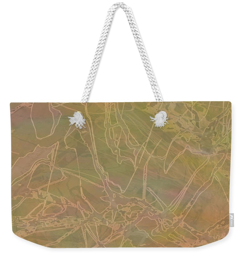 Abstract Weekender Tote Bag featuring the mixed media Edition 1 Maudlin Rose by Kristin Doner