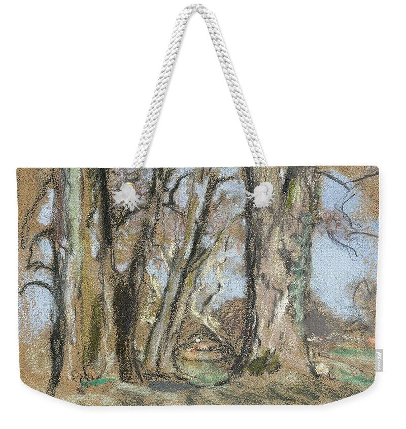 Nature Weekender Tote Bag featuring the painting Edouard Vuillard Cuiseaux 1868-1940 La Baule The Park In Clayes. 1932-1938. by Edouard Vuillard