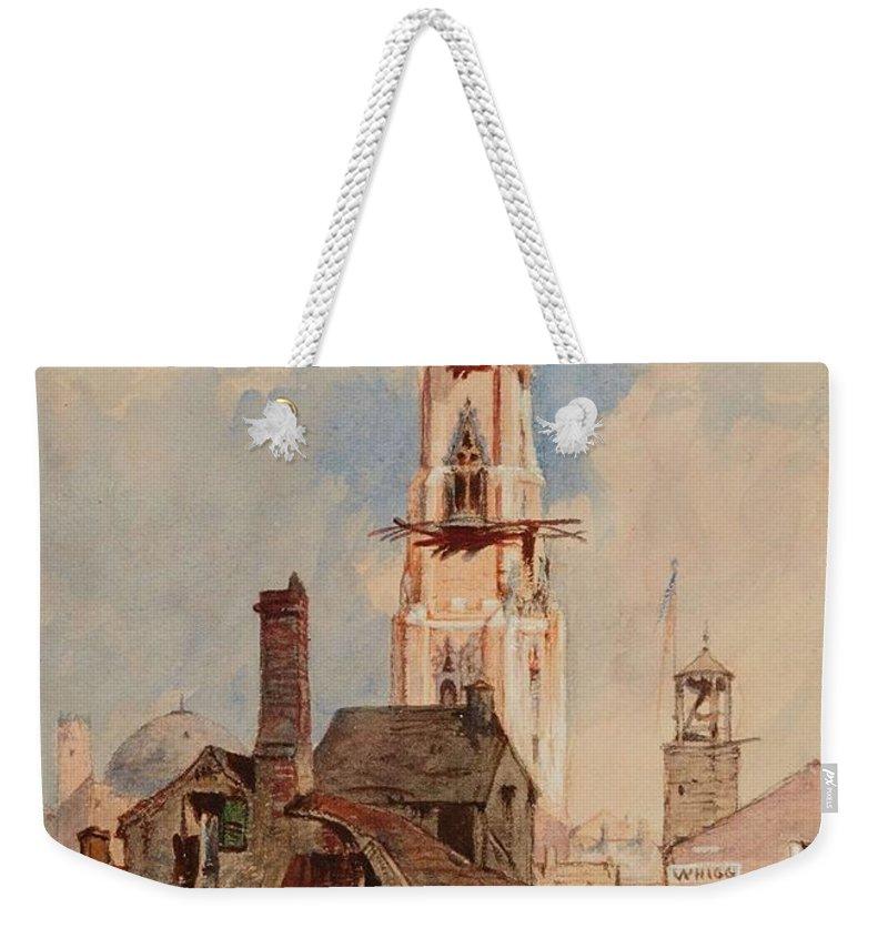 Nature Weekender Tote Bag featuring the painting Eduard Hildebrandt, Baltimore by Eduard Hildebrandt