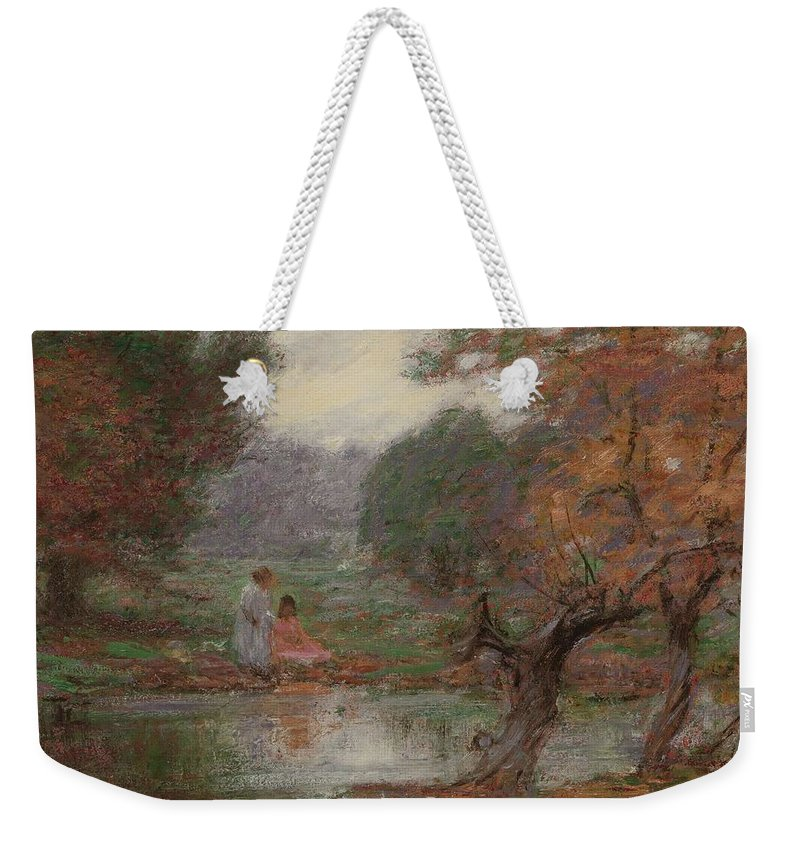 Nature Weekender Tote Bag featuring the painting Edward Henry Potthast 1857 - 1927 October Days by Edward Henry Potthast