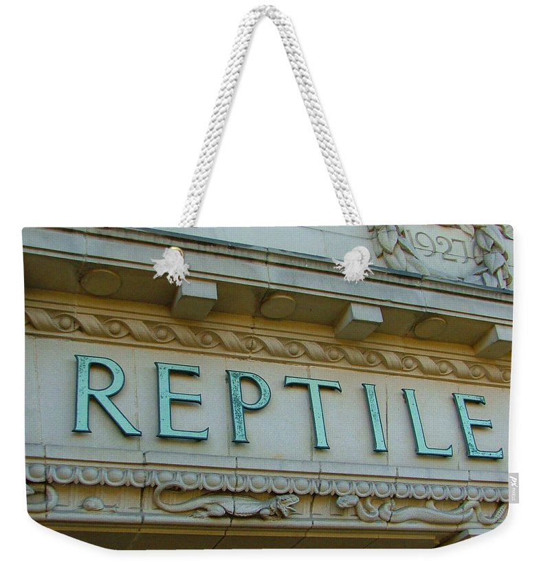 Reptile Weekender Tote Bag featuring the photograph Edwardian Reptile House by Heather Lennox