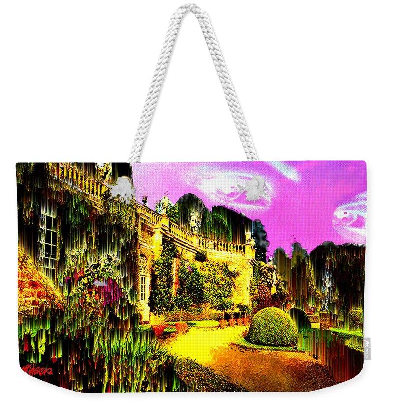 Mansion Weekender Tote Bag featuring the digital art Eerie Estate by Seth Weaver