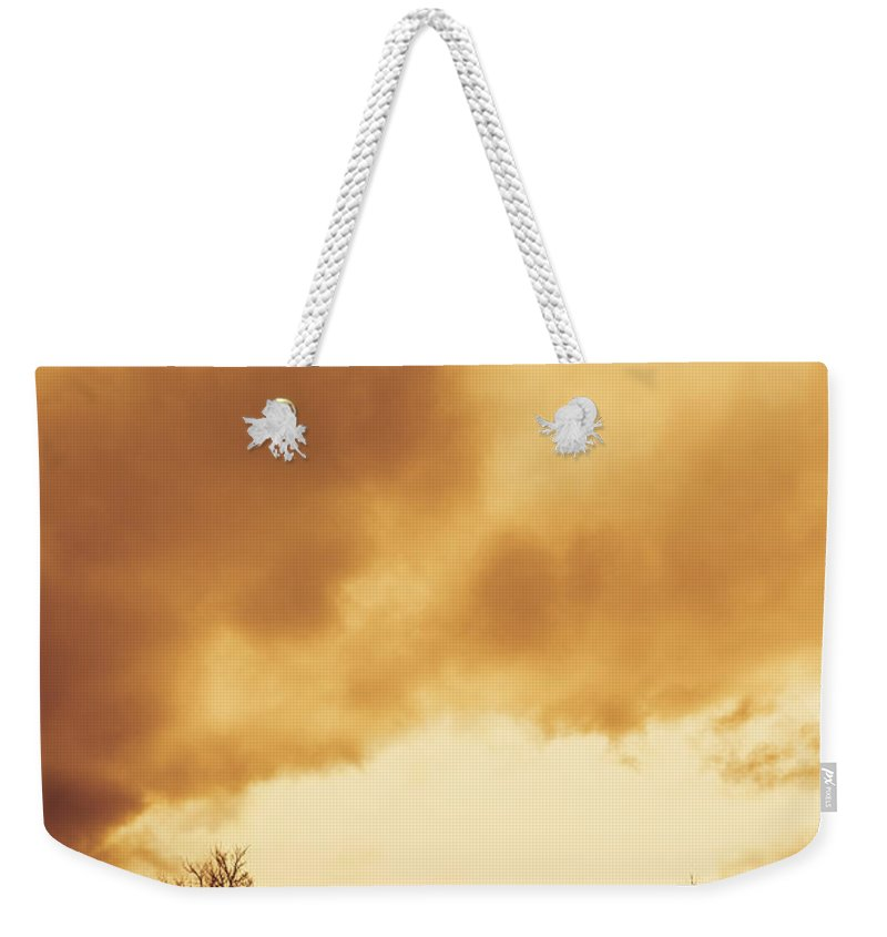 Eerie Weekender Tote Bag featuring the photograph Eerie Fields In Silhouette by Jorgo Photography - Wall Art Gallery