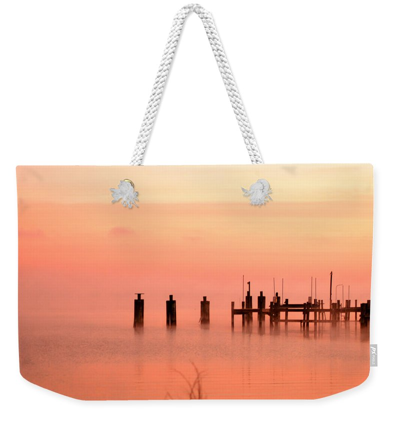 Clay Weekender Tote Bag featuring the photograph Eery Morn by Clayton Bruster