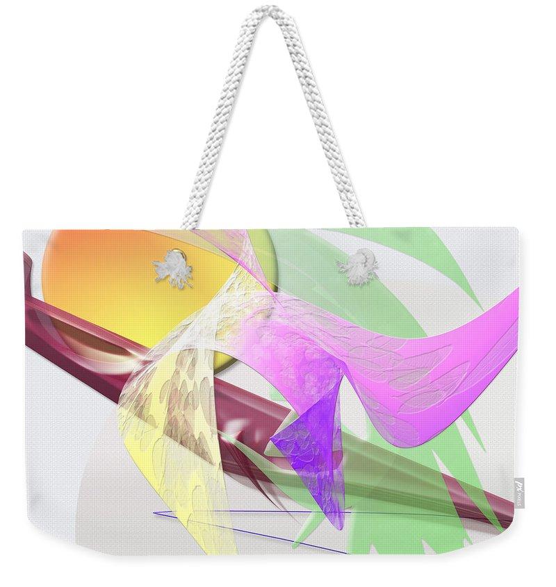 Effect Weekender Tote Bag featuring the digital art Effect by Warren Lynn