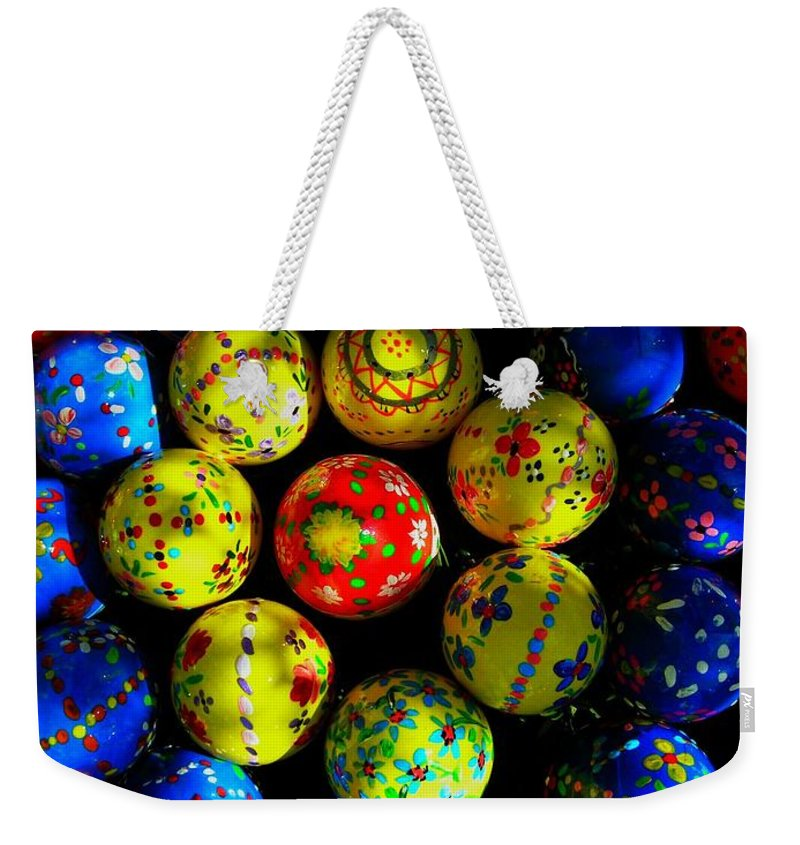 Easter Weekender Tote Bag featuring the photograph Egg - Parade by Juergen Weiss