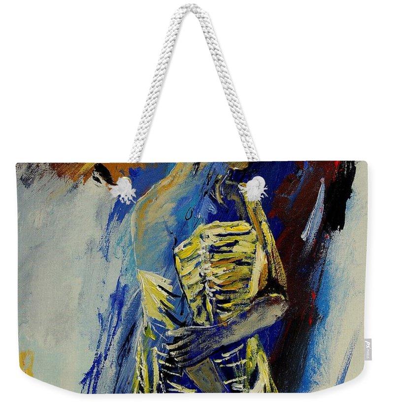 Girl Weekender Tote Bag featuring the painting Eglantine 450110 by Pol Ledent