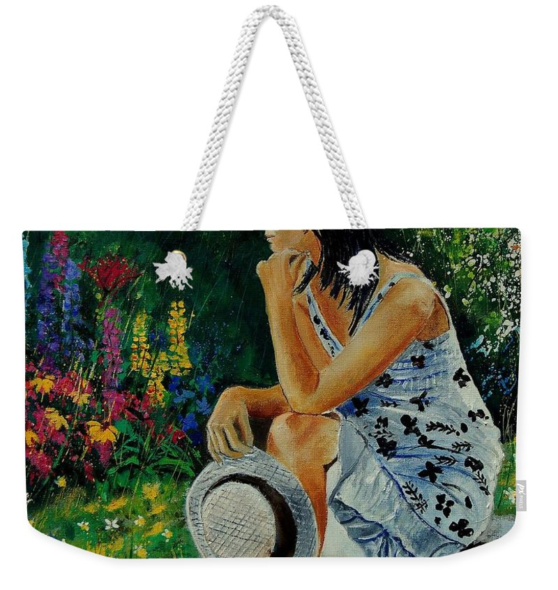 Girl Weekender Tote Bag featuring the painting Eglantine 679001 by Pol Ledent