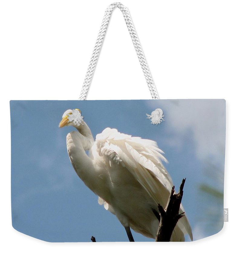 Egret Weekender Tote Bag featuring the photograph Egret 2 by J M Farris Photography
