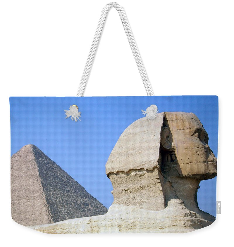Egypt Weekender Tote Bag featuring the photograph Egypt - Pyramids Abu Alhaul by Munir Alawi