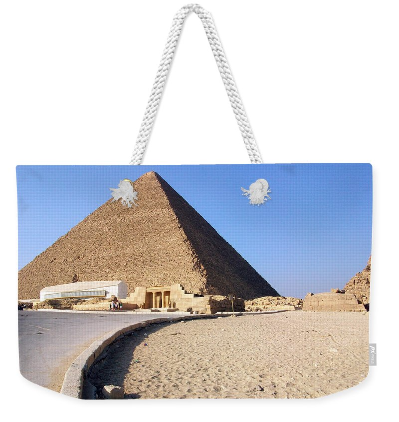 Egypt Weekender Tote Bag featuring the photograph Egypt - Way To Pyramid by Munir Alawi