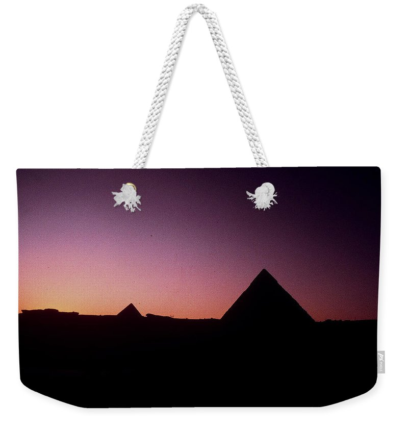 Egypt Weekender Tote Bag featuring the photograph Egyptian Sunset by Gary Wonning