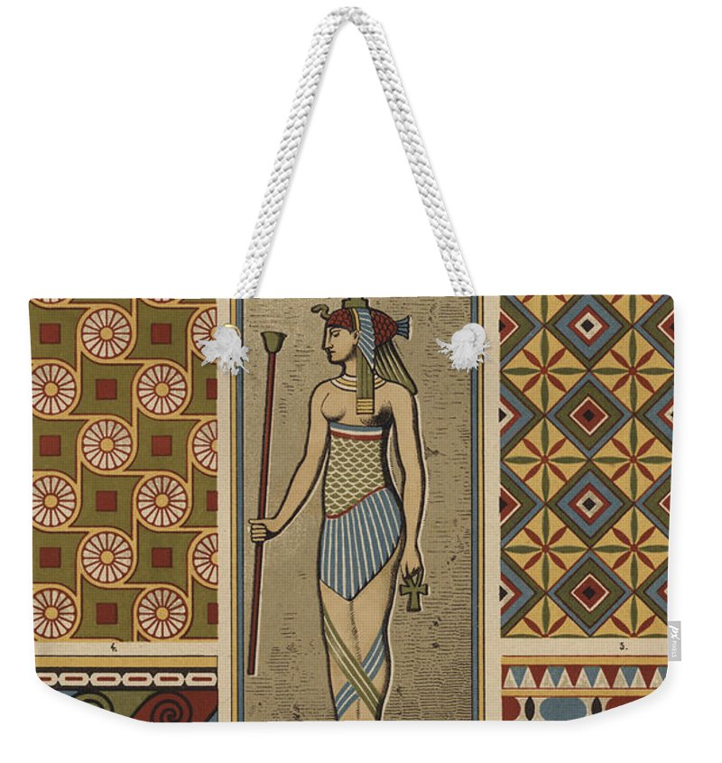 Egyptian Textile Patterns Weekender Tote Bag For Sale By Egyptian School