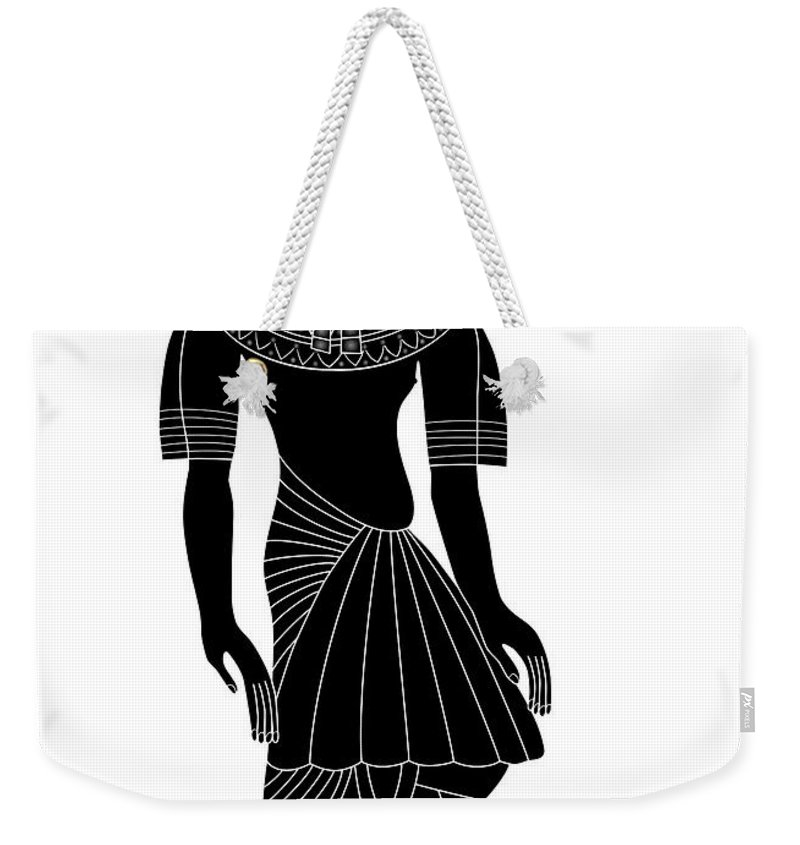 Illustration Weekender Tote Bag featuring the digital art Egyptian Woman by Michal Boubin