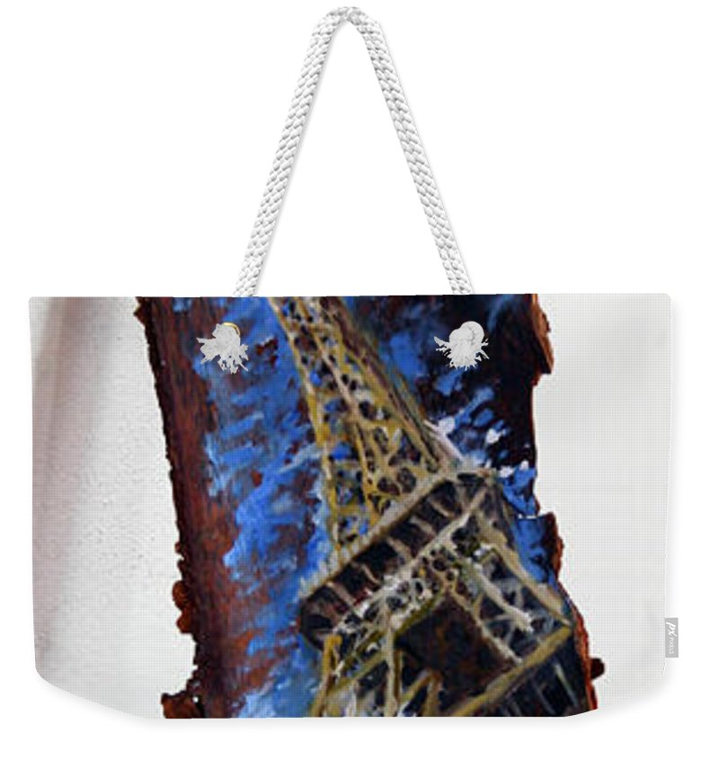 Landscape Weekender Tote Bag featuring the painting Eifel by Pablo de Choros