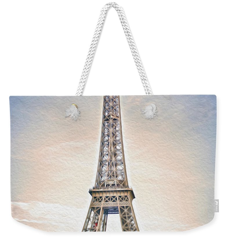 Paris Weekender Tote Bag featuring the photograph Eiffel Tower 13 Art by Alex Art and Photo