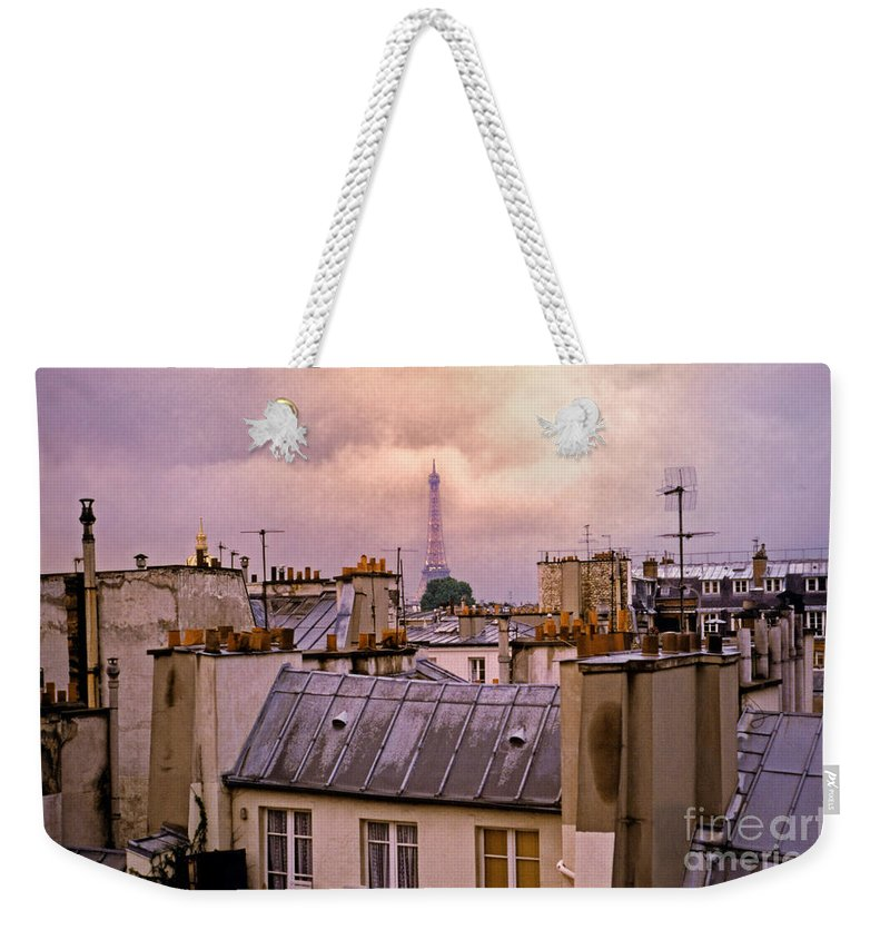Eiffel Weekender Tote Bag featuring the photograph Eiffel Tower by Madeline Ellis