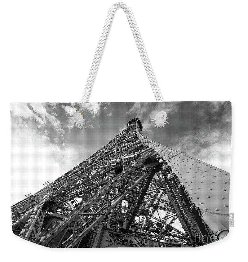 Paris Weekender Tote Bag featuring the photograph Eiffel Tower Monster by Alex Art and Photo