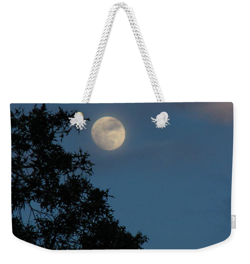 Patzer Weekender Tote Bag featuring the photograph Eight Thirty Two Pm by Greg Patzer