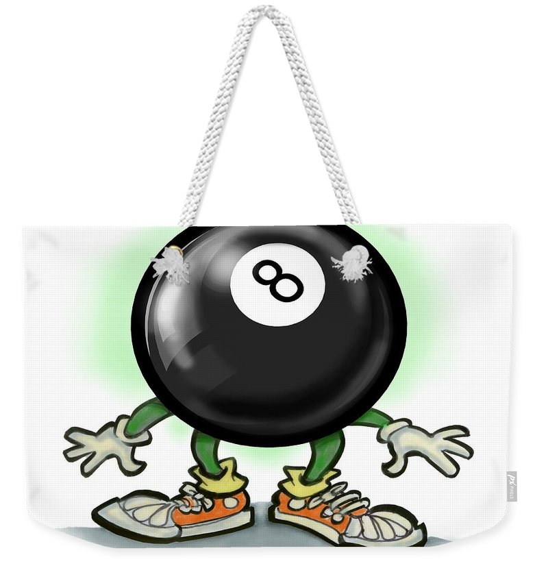 Eightball Weekender Tote Bag featuring the greeting card Eightball by Kevin Middleton