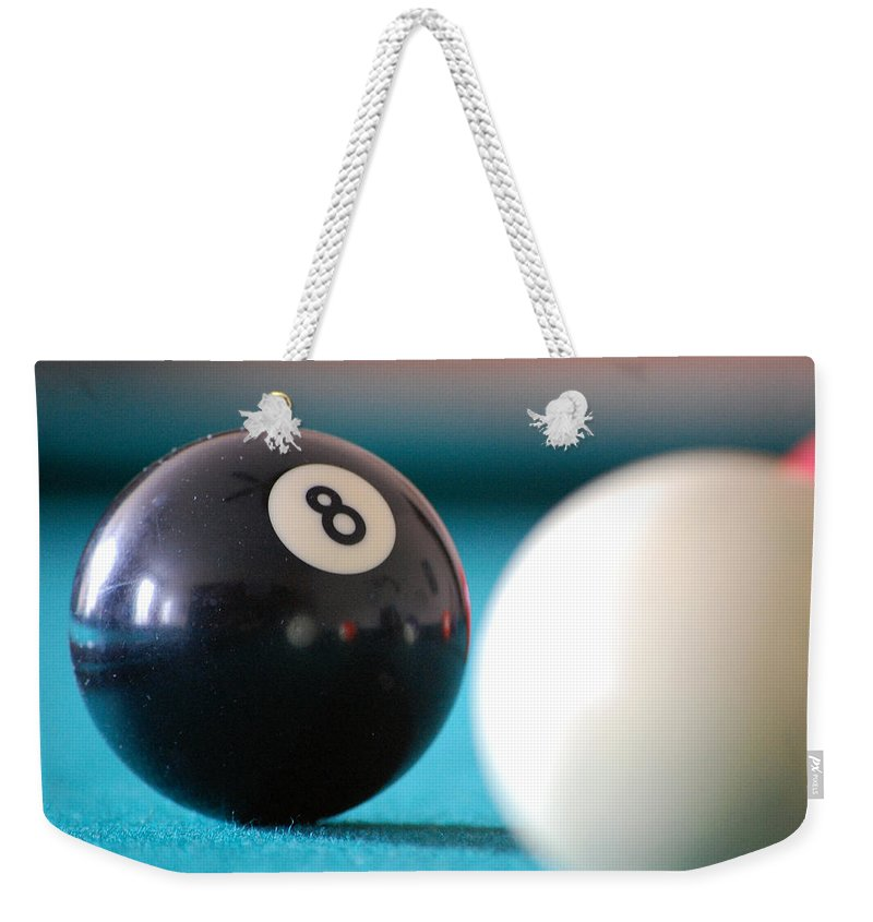 Billiards Weekender Tote Bag featuring the photograph Eightball by Robert Meanor