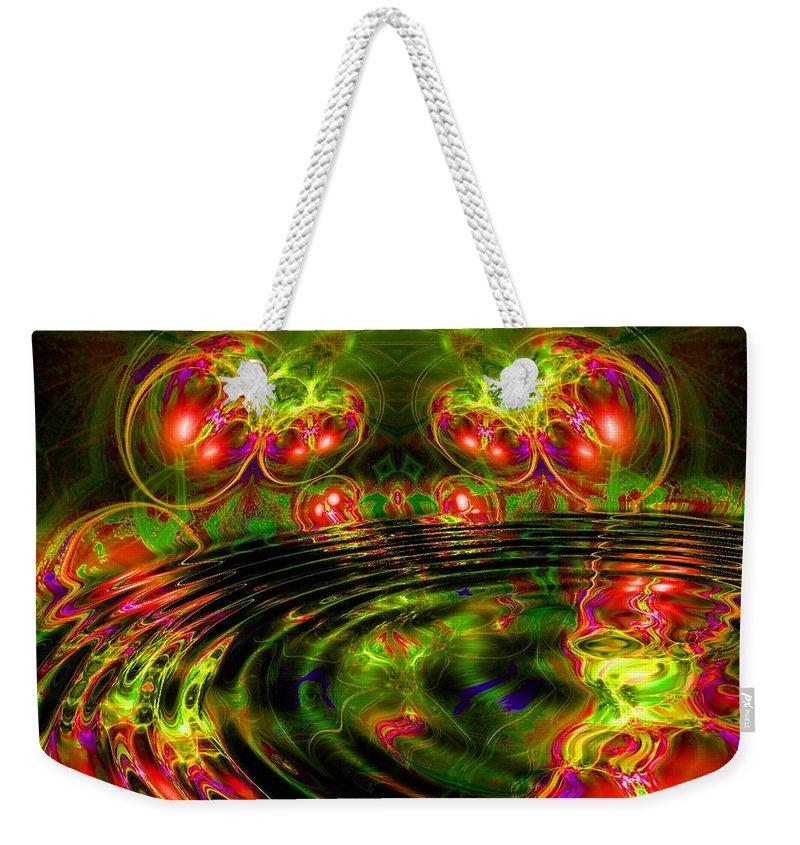 Green Weekender Tote Bag featuring the digital art Einstein's Dream by Robert Orinski
